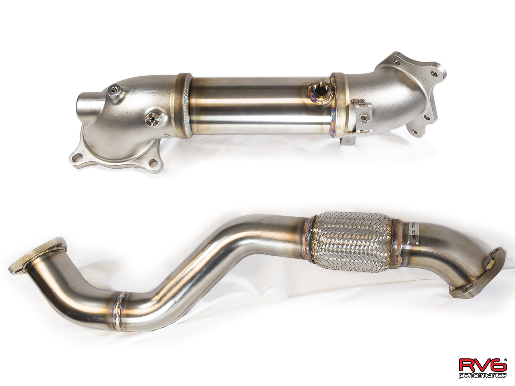 RV6™ Downpipe & Front Pipe Combo for 17+ Civic Type-R 2.0T FK8