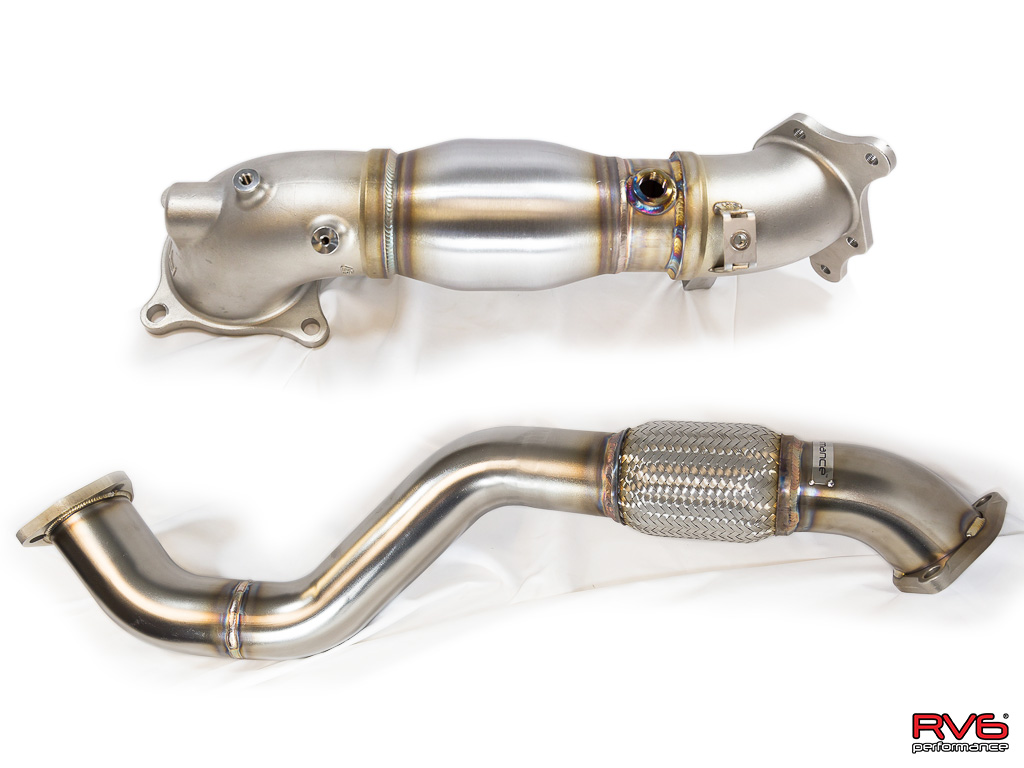 RV6™ Catted Downpipe & Front Pipe Combo for 17+ Civic Type-R 2.0T FK8